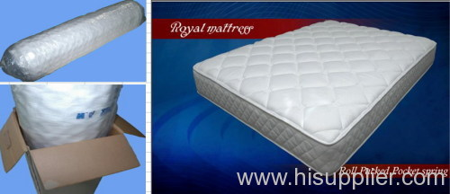 Roll packed spring mattress