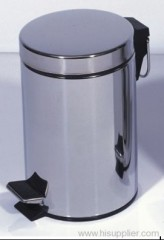 12L stainless steel circular bin