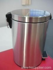 12L stainless steel flat head circular bin