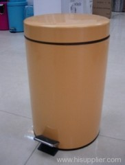 5L paint coating metal flat head circular bin