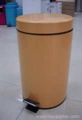 7L paint coating metal flat head circular bin