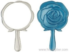 Flower plastic pocket mirror