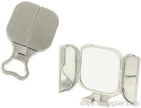 Plastic folding mirror