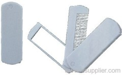 Plastic folding comb & mirror
