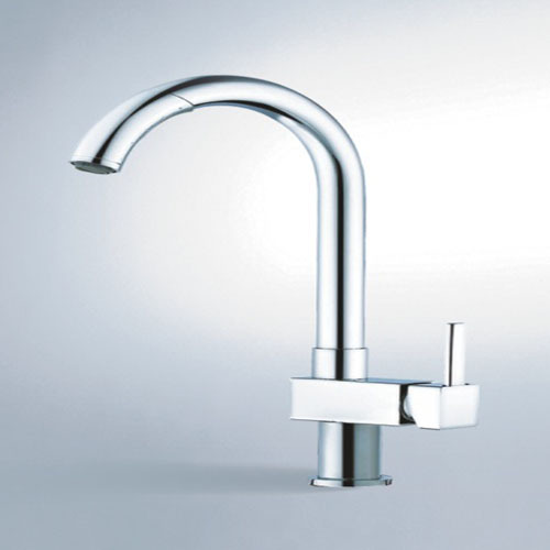 single lever sink mixer with pull-out spout