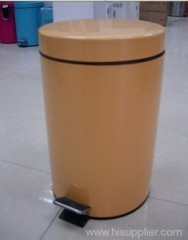 40L paint coating metal flat head circular bin