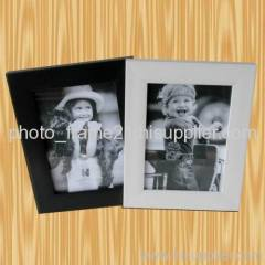 white and black combination photo frame