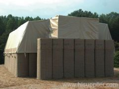 Military Wall of Hesco Barriers