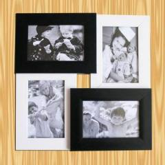 white and black photo frame