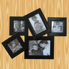 black combination photo frame