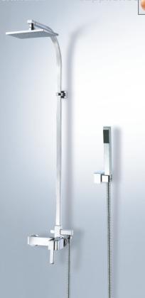 brass rain shower set