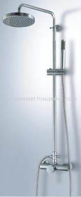 single handle rain shower column