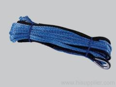 Synthetic rope for winches