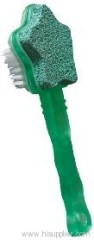 Plastic brush with pumice stone