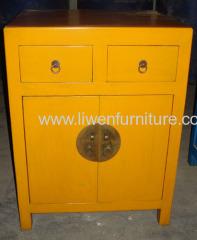 antique wooden bedside cabinet