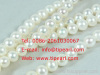 7-8mm natural white freshwater round pearl strand