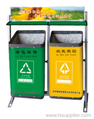 Composite material trash can