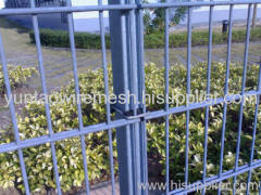 galvanzied double wire fence