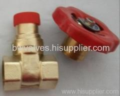 brass lockable gate valve