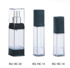 Plastic airless lotion bottle