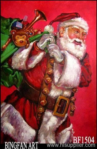 Santa Claus oil painting