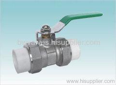 PPR brass ball valve