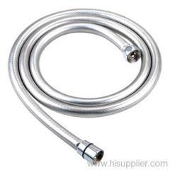 PVC gloss silver shower hose