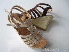 lady's wedge sandal,women shoes