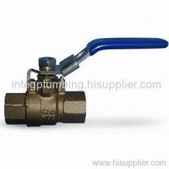 Bronze valve with lock