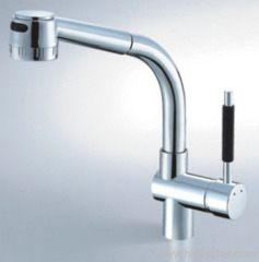 lever pull out kitchen faucet