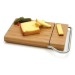 Bamboo Cheese Board with Stainless Steel Slicer