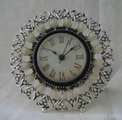 silver decor clock