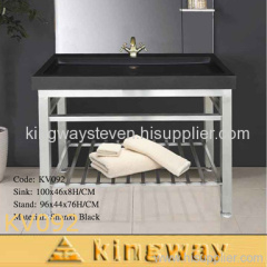 stone sink with stand