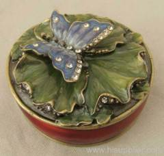 metal trinket box butterfly