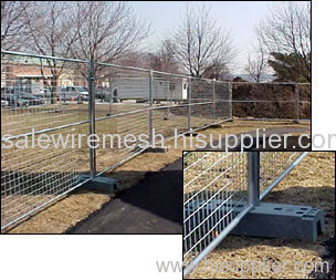 Temporary crowd control fence