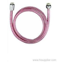 PVC pink concave and convex shower hose