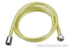 PVC yellow silver thread shower hose