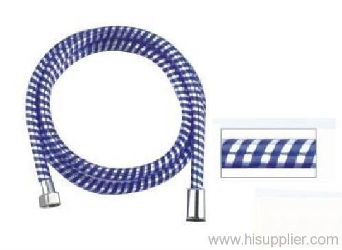 PVC dark blue silver thread shower hose
