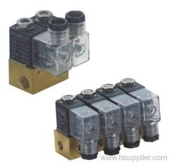 Valve group series for air water or oil