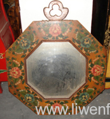 Tibetan painted mirror