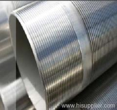 Looped wedge wire screen