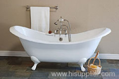 Double Slipper Classic Cast Iron Bathtub