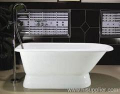 Free-Standing Enameled Cast Iron Bathtub