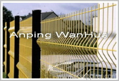 Wire Fence With Triple Curved Edges