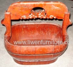 Antique decoration bucket