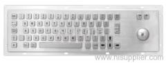 Anti-vandal stainless keyboard
