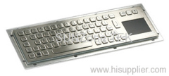 Vandal proof Stainless Steel Keyboard with Touchpad