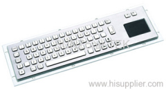 Waterproof Stainless Keyboard with Touchpad