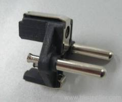Two pin plug insert with Hollow pins