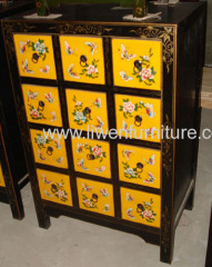 reproduction antique painted CD cabinet